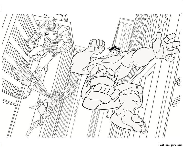 Battle Lego Marvel Coloring Pages