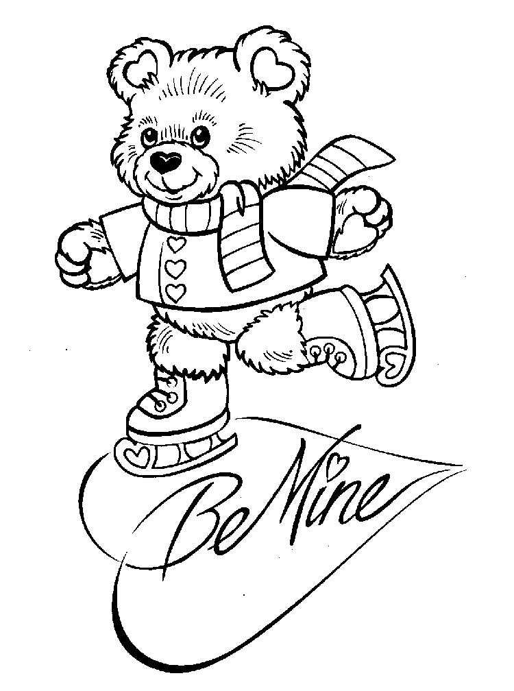 Be Mine Valentine Coloring Pages
