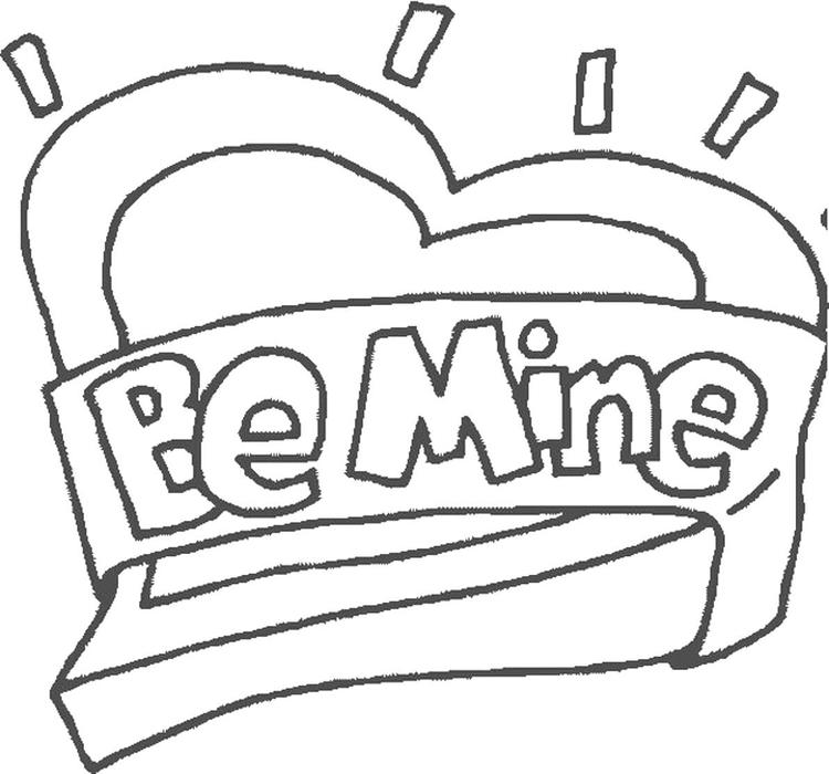 Be Mine Valentines Day Coloring Pages
