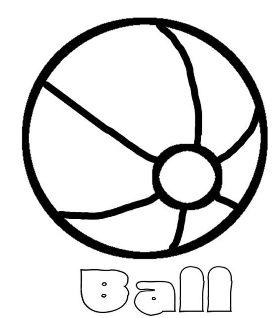Beach Ball Coloring Pages For Preschooler