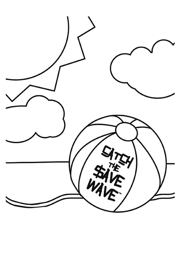 Beach Ball Coloring Pages Free To Print