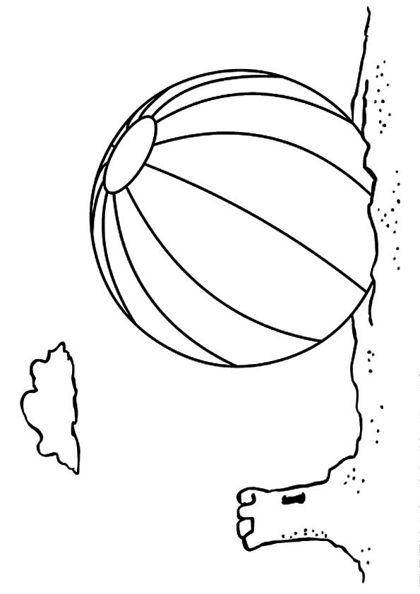 Beach Ball Coloring Pages On The Sand
