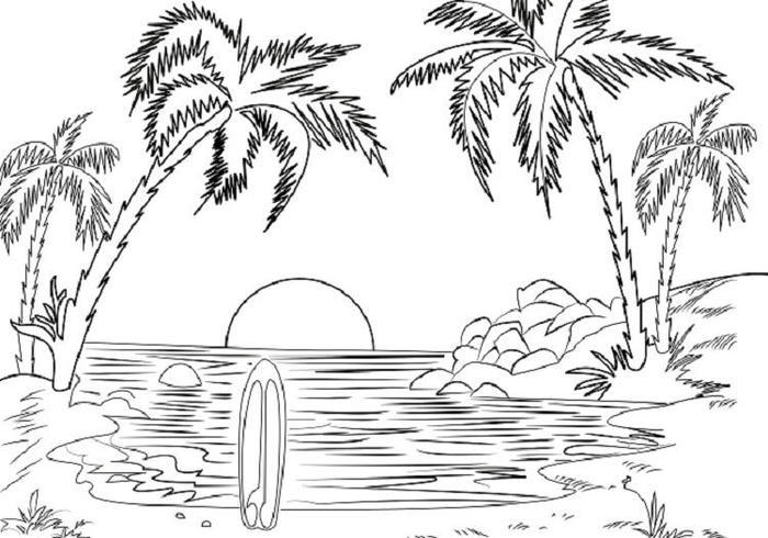 Beach Coloring Pages Pdf