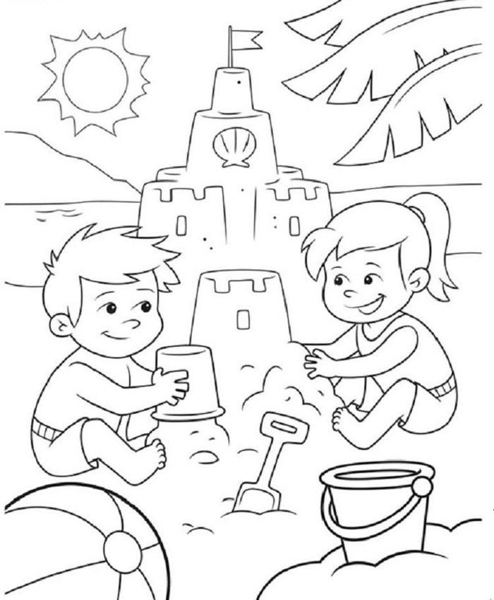 Beach Crayola Coloring Pages