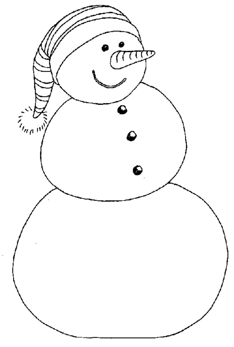 Beannie Snowman Winter Coloring Pages