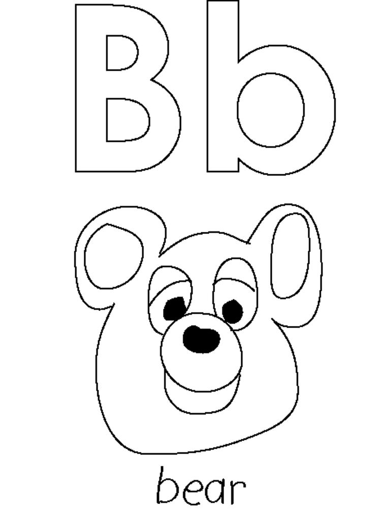 Bear Alphabet Coloring Pages