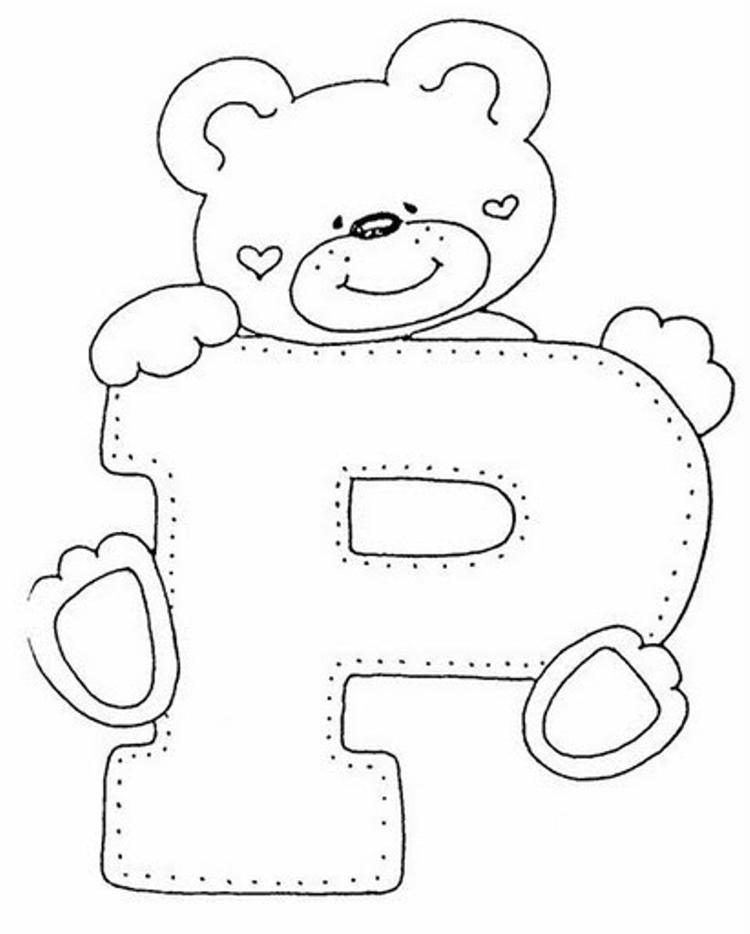 Bear P Free Alphabet Coloring Pages