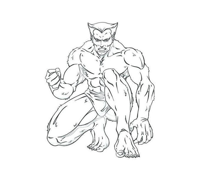 Beast X Men Coloring Pages