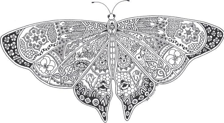 Beautiful Adult Coloring Pages Printable Butterfly