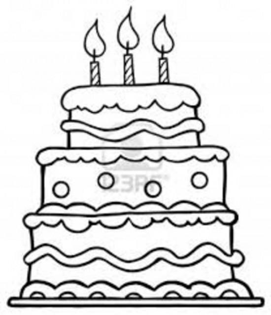 Beautiful Cake Coloring Pages