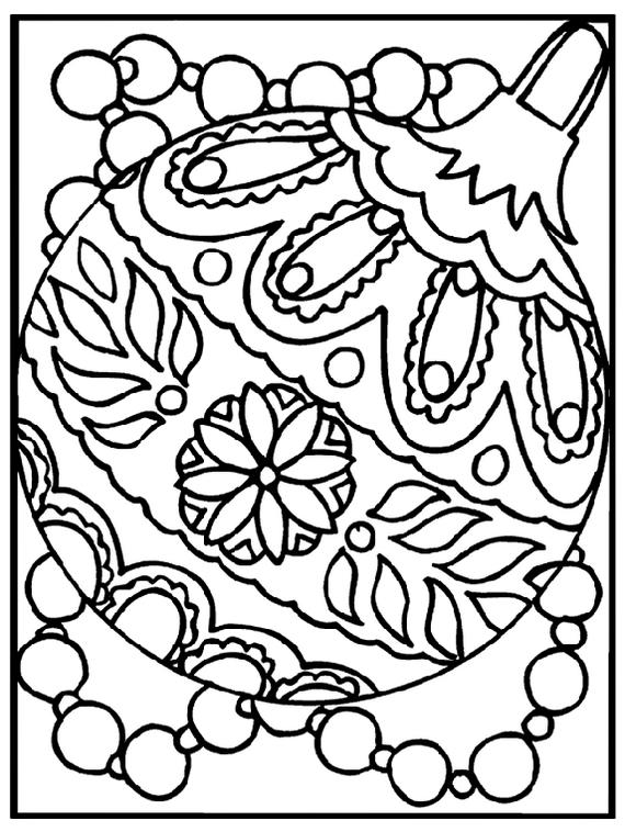Beautiful Collection Of Christmas Ornaments Coloring Page