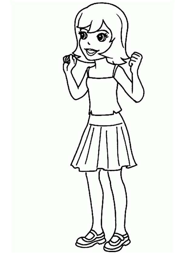 Beautiful Crissy From Polly Pocket Coloring Pages