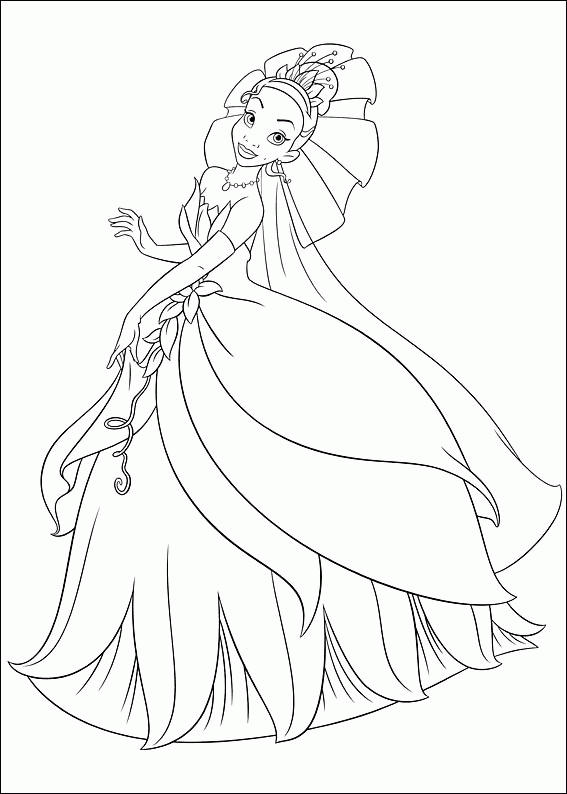 Beautiful Princess And The Frog Coloring Pages