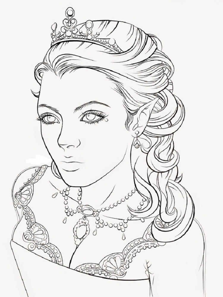 Beautiful Queen Coloring Pages