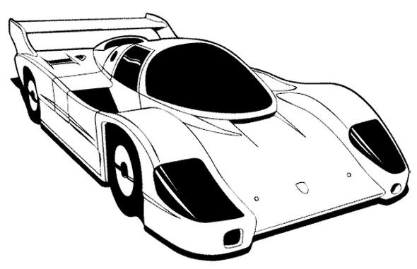 Beautiful Racing Car Coloring Page