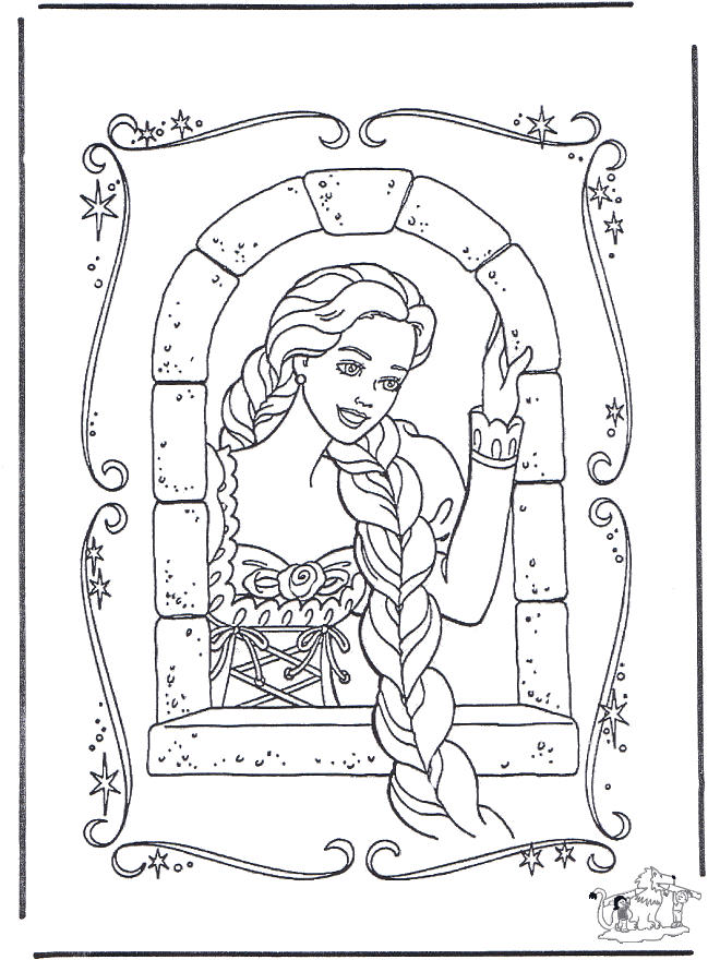 Beautiful Rapunzel Coloring Pages