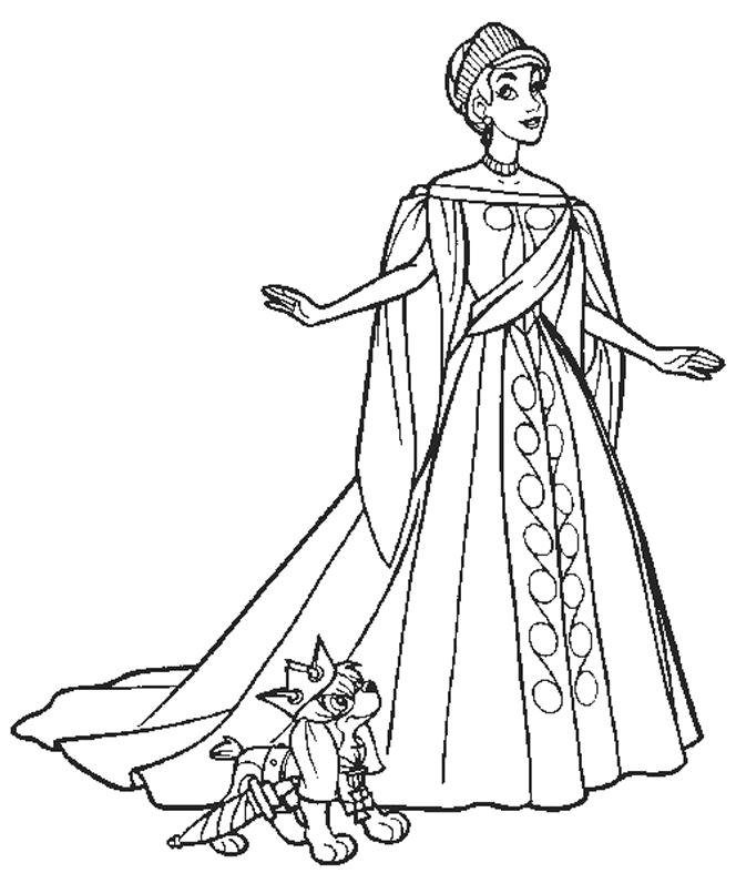 Beautiful Wedding Dress Coloring Pages