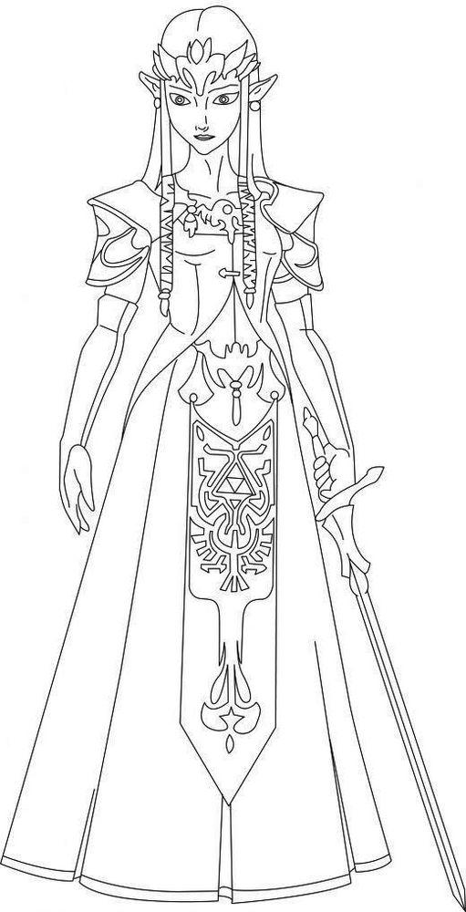 Beautiful Zelda Character Coloring Pages