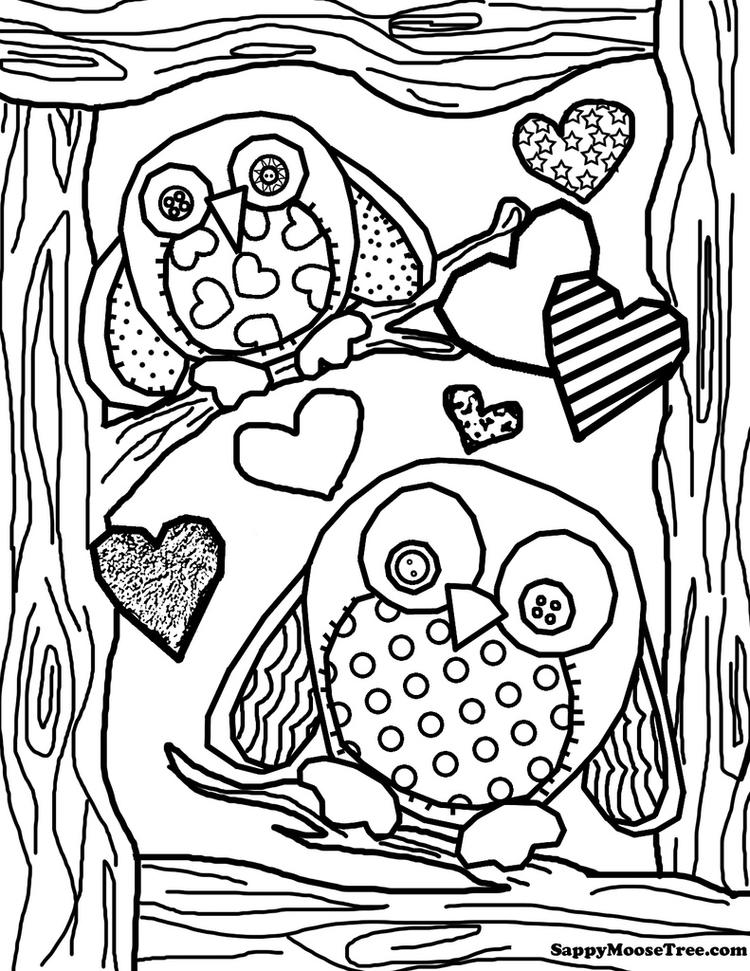 Beauty Adult Coloring Pages Printable Owl