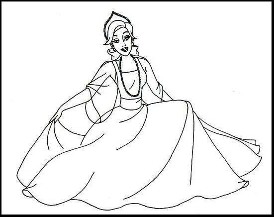 Beauty Anastasia Coloring Page