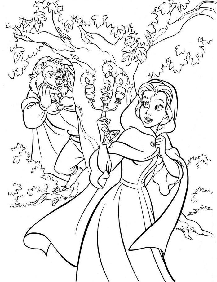 Beauty And The Beast Coloring Pages Hard