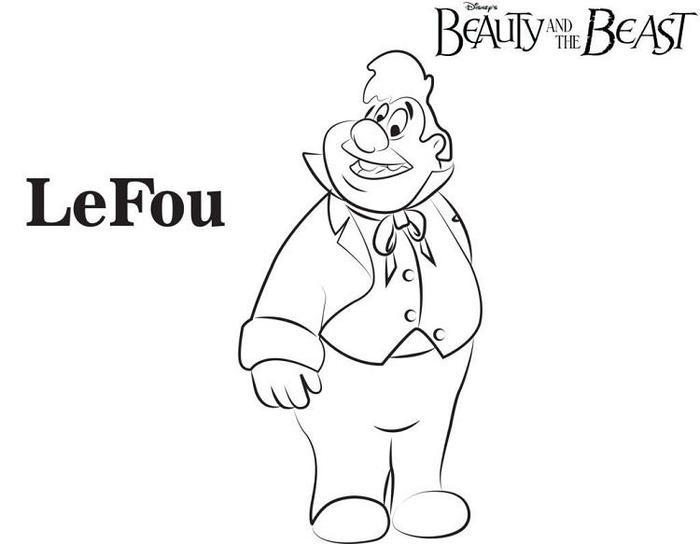 Beauty And The Beast Coloring Pages Lefou