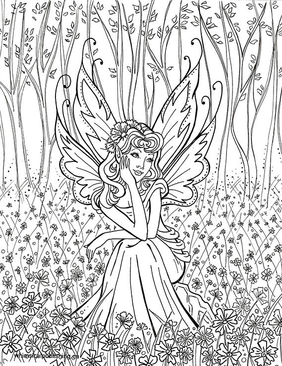 Beauty Coloring Pages For Teenagers Difficult Fairy