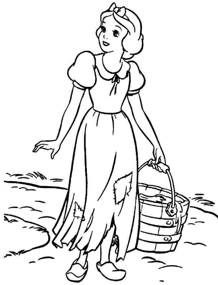 Beauty Disney Princess Coloring Pages Snow White 1