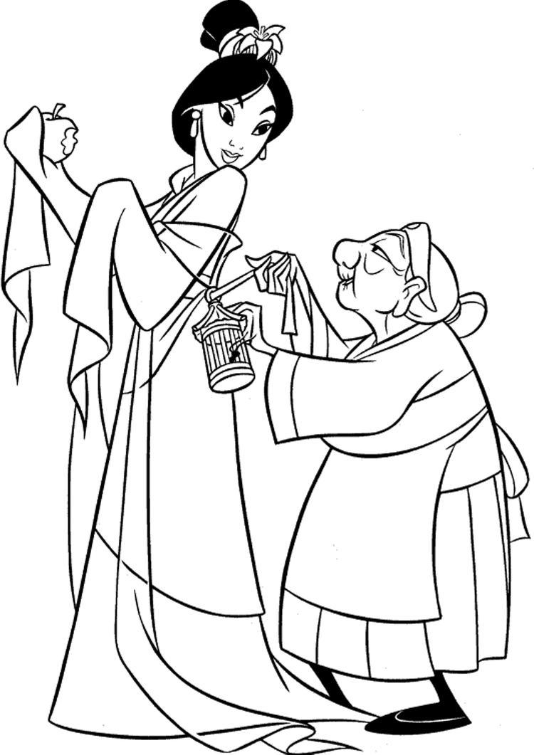Beauty Mulan Coloring Pages