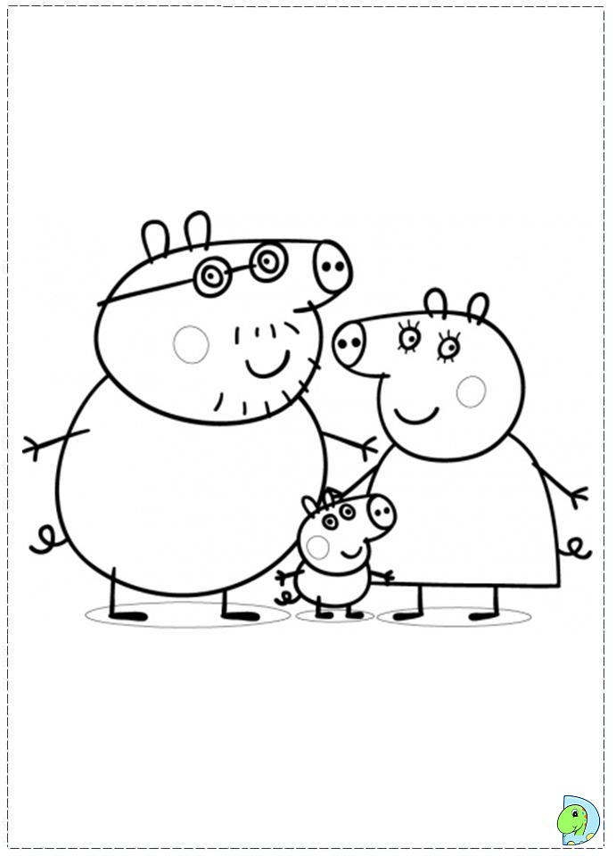 Beauty Peppa Pig Coloring Pages