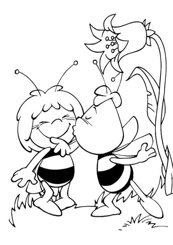 Bee Cartoon Coloring Pages