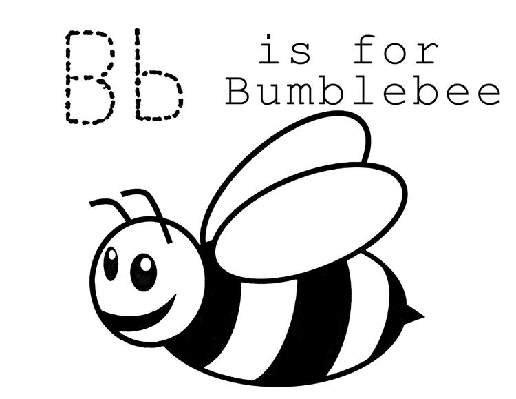 Bee Coloring Pages B For Bumble Bee
