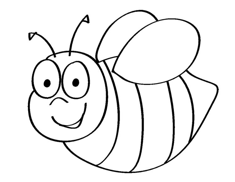 Bee Coloring Pages Cute