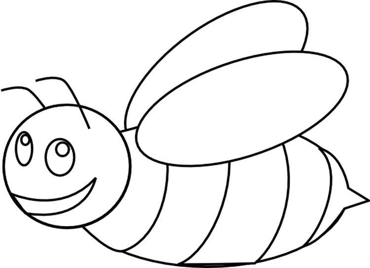 Bee Coloring Pages For Toddlers