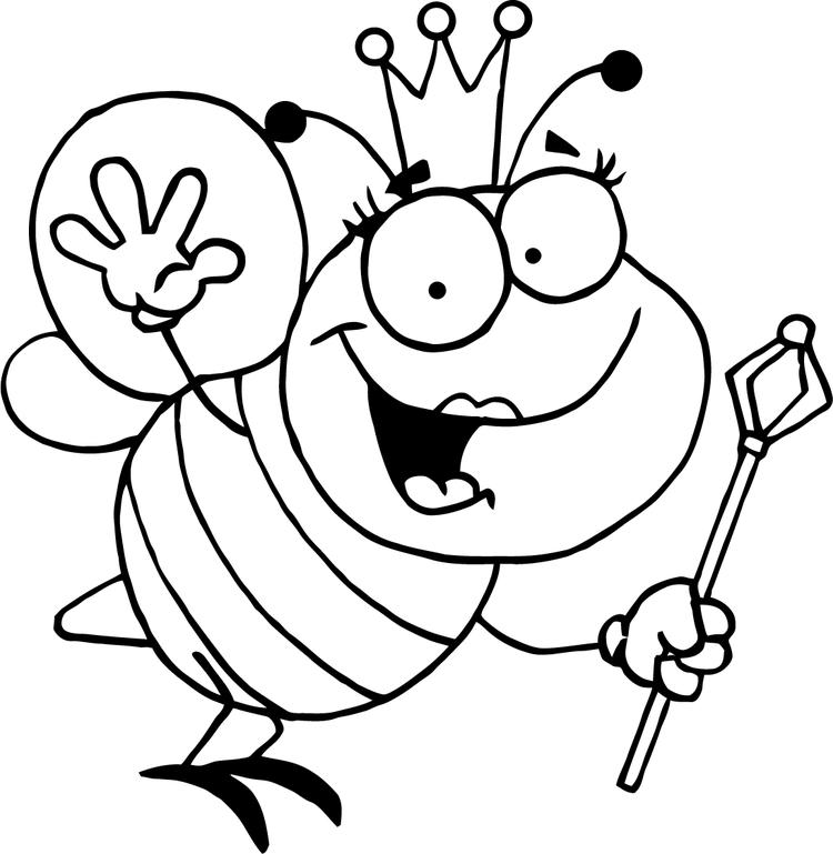 Bee Coloring Pages Queen Bee
