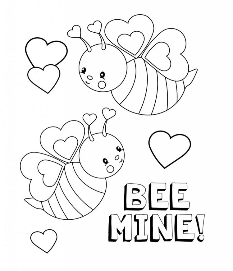 Bee Mine Coloring Pages