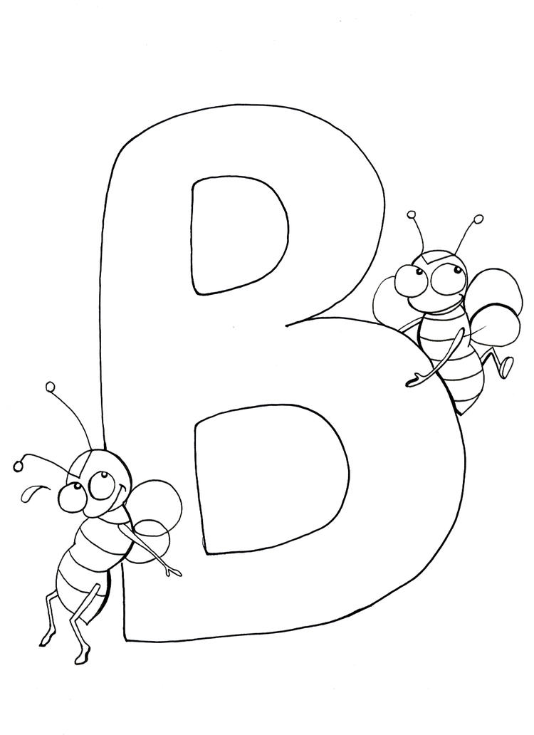 Bees Alphabet Coloring Pages
