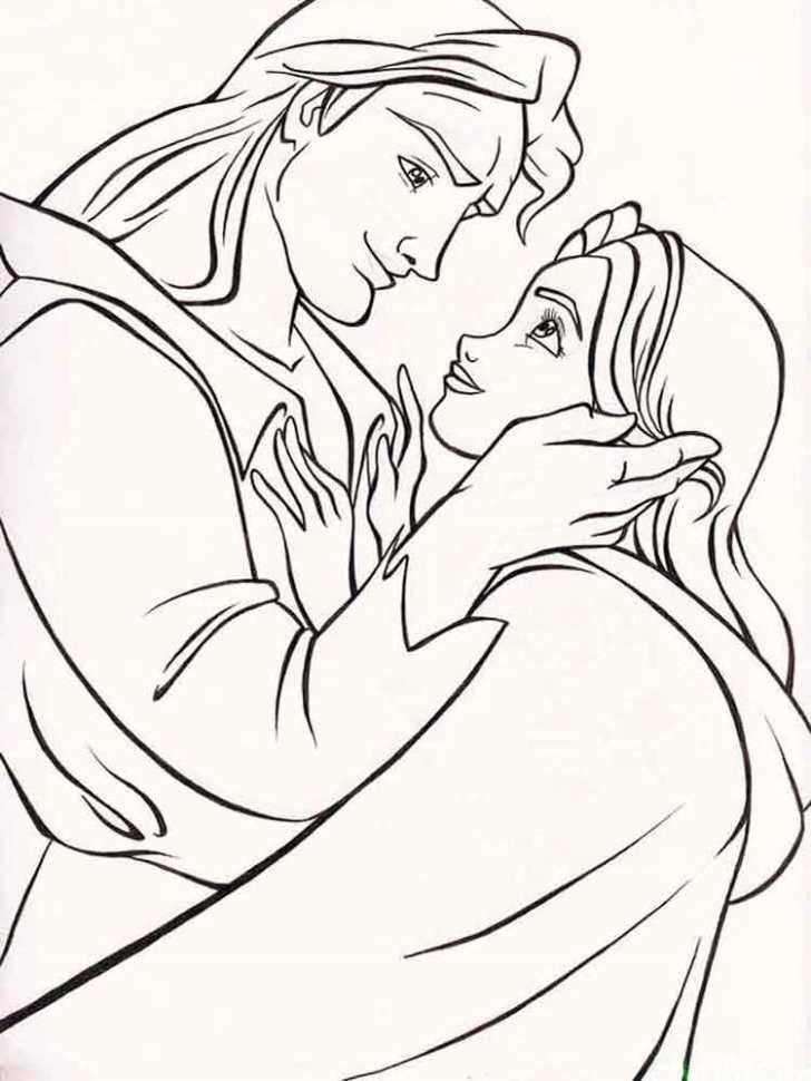 Before Transformed Beauty And The Beast Coloring Pages