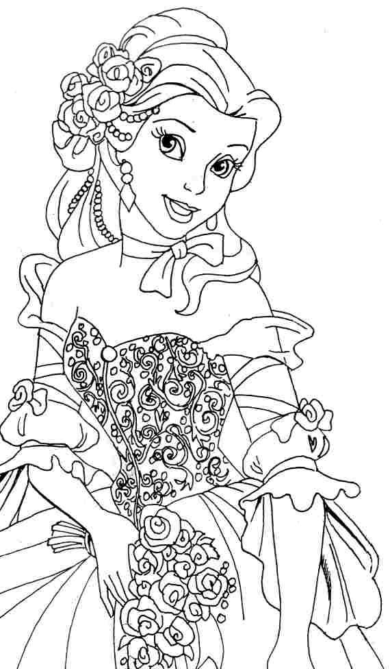 Belle Coloring Pages For Preschool