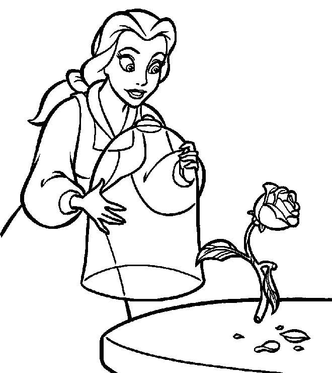 Belle Coloring Pages Free Printable