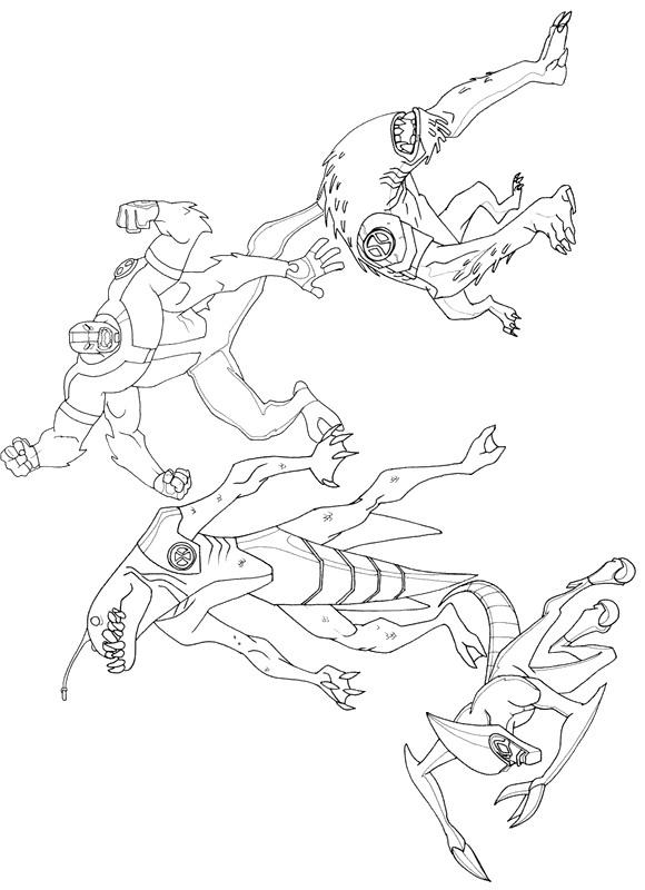 Ben 10 Coloring Pages Aliens