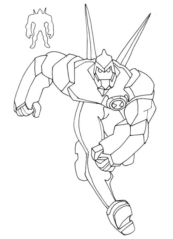 Ben 10 Coloring Pages Diamondhead