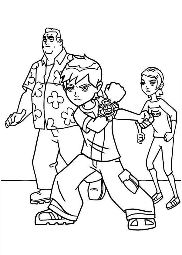 Ben 10 Coloring Pages Family