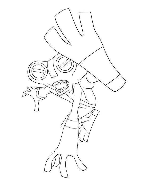 Ben 10 Coloring Pages Grey Matter