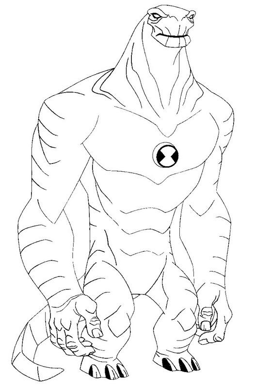 Ben 10 Coloring Pages Humungousaur