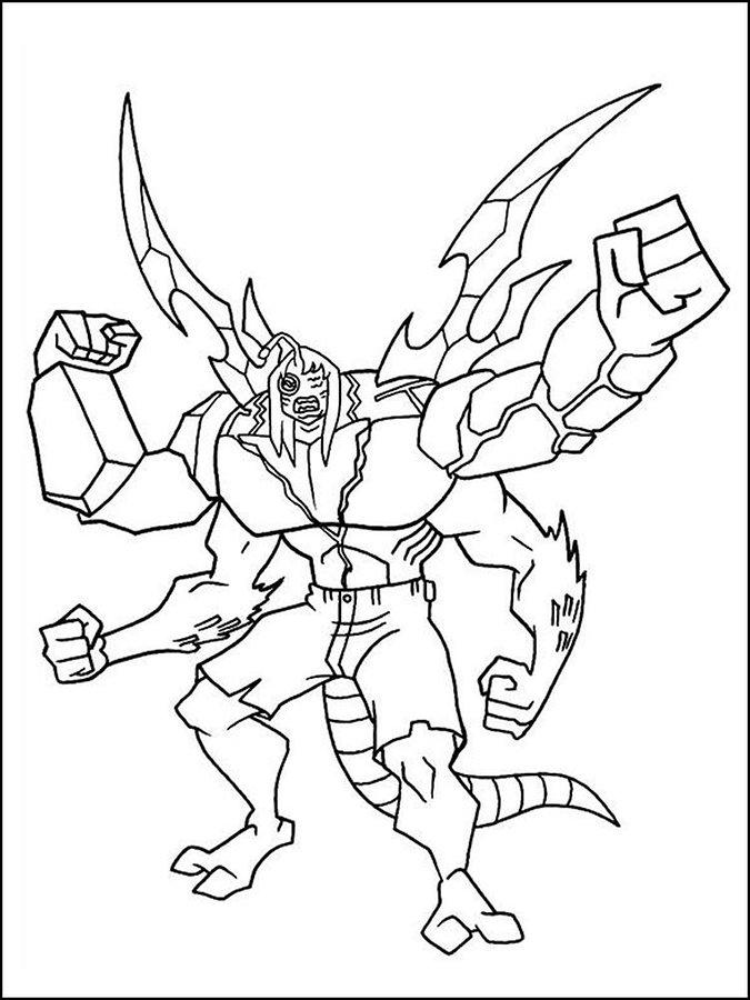 Ben 10 Coloring Pages Kevin 11
