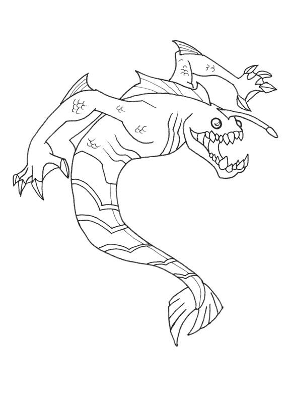 Ben 10 Coloring Pages Ripjaws