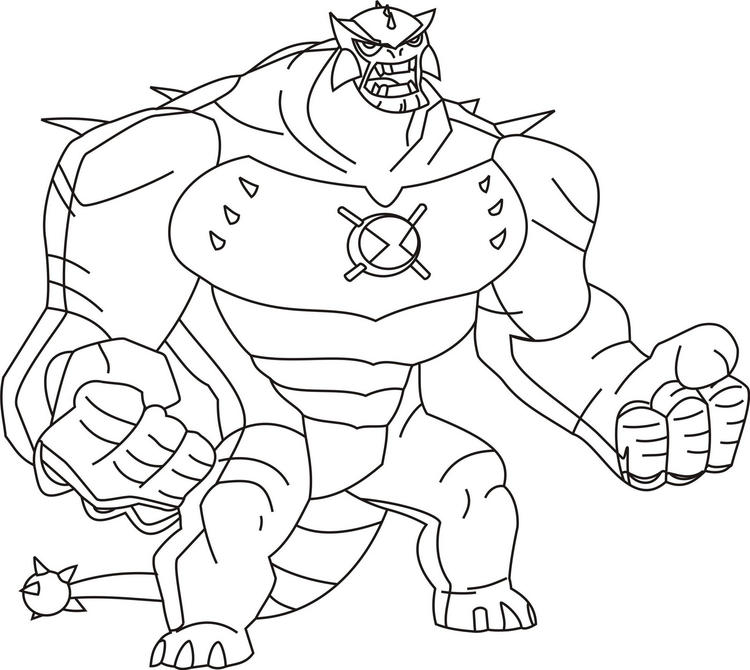 Ben 10 Coloring Pages Ultimate Humungousaur
