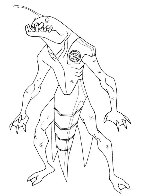 Ben 10 Coloring Pages Ultimate Ripjaws