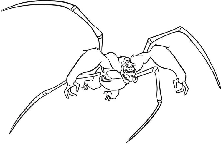 Ben 10 Coloring Pages Ultimate Spidermonkey